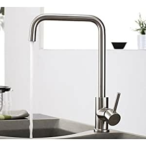 BOBO 304 Stainless Steel Lead-Free Kitchen Mixer Tap Faucet Nickel