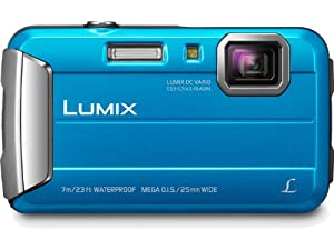 Panasonic Lumix Dmc-ts25 16.1 Mp Tough Digital Camera With 8x Intelligent Zoom Blue