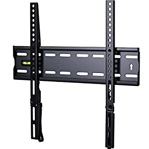 "VideoSecu Low Profile Ultra Slim 1"" profile TV Wall Mount for most 27""-47"" LCD LED Plasma TV, Some up to 55"" Flat Panel Screen Display with VESA 100x100 to 400x400 1RX"