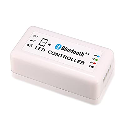 Addcome 12V Wireless Bluetooth Led Controller for RGB Led Light & Led Strip, Support Bluetooth Version 4.0 ,Smart Phone Controlled (Apple iPhone, iPad, iWatch, Andriod Phone & Tablet)