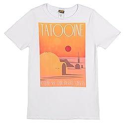 Star Wars Womens Tatooine Poster T-shirt (Large, Cream)
