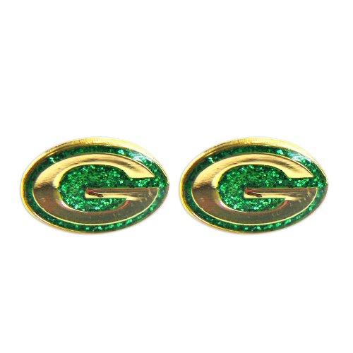 Green Bay Packers Glitter Post Earrings