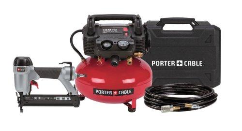 Porter-Cable Cf6111 1-3/8-Inch Brad Nailer Compressor Combo Kit