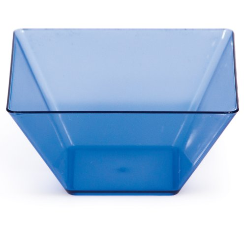 Creative Converting 8 Count 3.5-Inch Square Plastic Bowls, Mini, Translucent Blue (Creative Fruit Bowl compare prices)