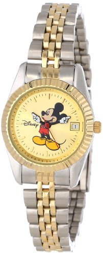 Disney Women's MM0061 Two-Tone Mickey Mouse Watch with Date Movement at Amazon.com