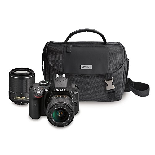 Discover Bargain Nikon D3300 DX-format DSLR Kit w/ 18-55mm DX VR II & 55-200mm DX VR II Zoom Lenses and Case