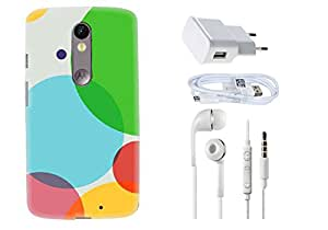Spygen Motorola Moto X Case Combo of Premium Quality Designer Printed 3D Lightweight Slim Matte Finish Hard Case Back Cover + Charger Adapter + High Speed Data Cable + Premium Quality Handfree