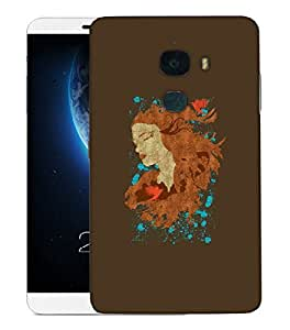 Snoogg Beautiful Lady Designer Protective Back Case Cover For LETV LE MAX