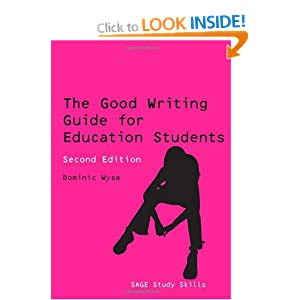 Image: Cover of The Good Writing Guide for Education Students: (Sage Study Skills Series)