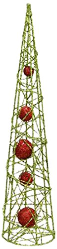 Renaissance 2000 Metal Cone Tree, 18-Inch, Green and Red