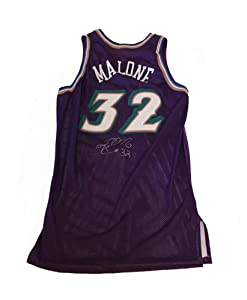 Karl Malone Autographed Utah Jazz Game Worn Jersey #32 by JWS+Sports+Collectibles