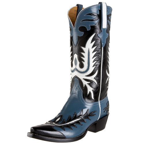 Lucchese Classics Men's GB9274 5/3 Western Boots,Jeans Blue/Black,9 D(M)US