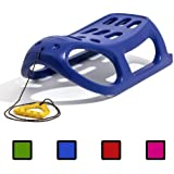 Strong plastic sledge with metal runners and rope, 4 colours available