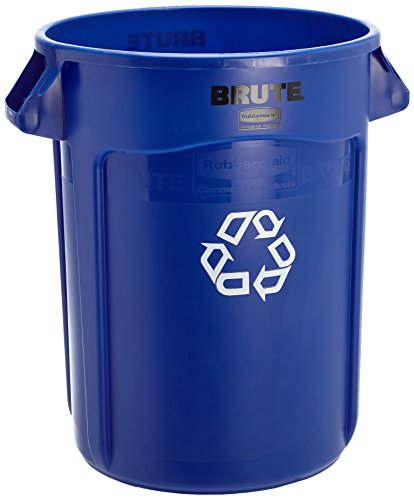 Rubbermaid Commercial Products FG263273BLUE-V Brute Recycling Container with Venting Channels, 32 gal, Blue (Can Recycling compare prices)