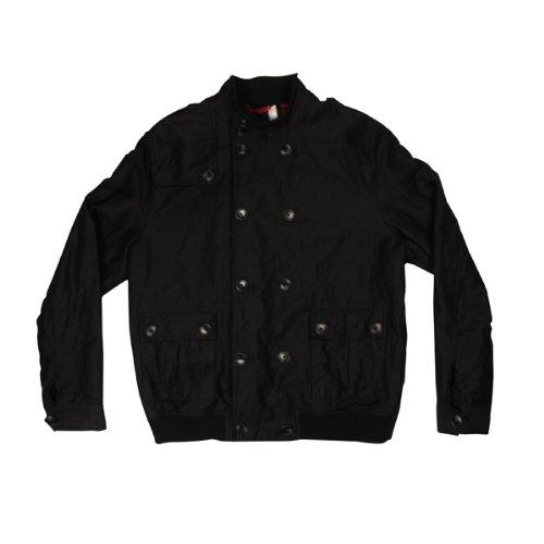 Mens Ben Sherman Bomber Military Jacket Coat Mod Black Smart Full Zip Size XXL