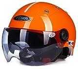YEMA-332 ハーフヘルメット レディースヘルメット/ガールス/女性用 電動スクーカー/ヘルメット メンズ用 スモールジェットヘルメット バイクヘルメット  夏場用 「free size:54-63CM」13