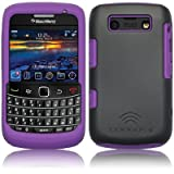Grey And Purple Back Cover Case For Blackberry Bold 9700 9780