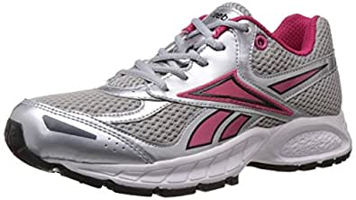 Reebok Women's Vision Speed Lp Silver, Red And White Mesh Running Shoes - 4  UK/6.5 US