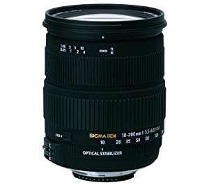 Sigma AF 18-200mm f/3.5-6.3 DC OS (Optical Stabilizer) Zoom Lens for Nikon Digital SLR Cameras