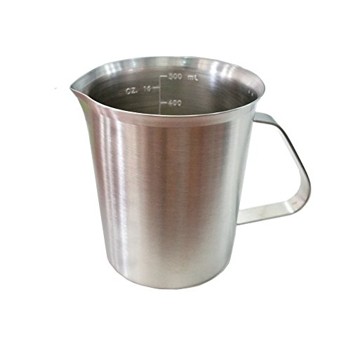Daixers Heavy-Duty Stainless Steel Frothing Pitcher With Measurements For Coffee, Latte & Milk(20-Oz) (Metal Steamer Pitcher compare prices)