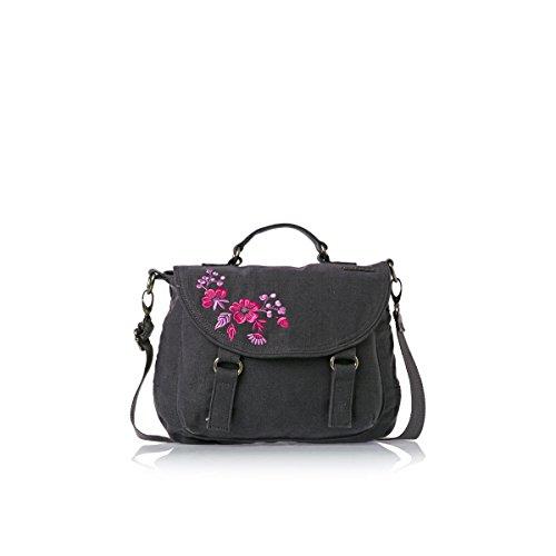 Animal Womens High Tide Cross-Body Bag Asphalt