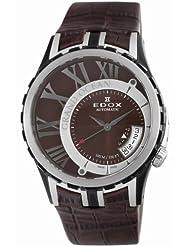 Edox Men's 82007 357BR BRIN Grand Ocean Brown Automatic Watch