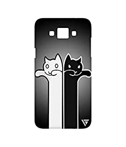 Vogueshell Black Cat White Cat Printed Symmetry PRO Series Hard Back Case for Samsung Galaxy Grand Max