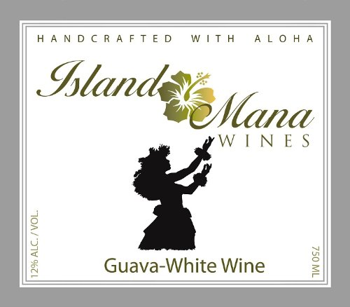 Island Mana Hawaiian Tropical Fruit Guava Wine - Off Dry 750Ml
