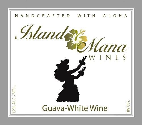 Island Mana Hawaiian Tropical Fruit Guava Wine - Off Dry 750Ml