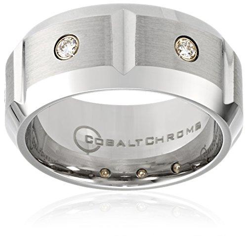 ... Diamond Wedding Ring Bandatin Finish Polished Beveled Edges and Cuts