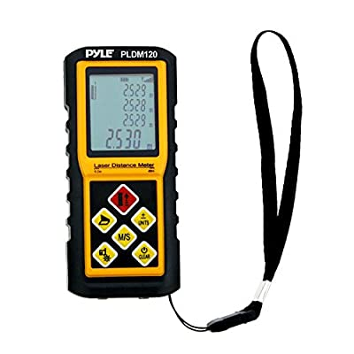 Pyle Digital Laser Distance Meter with Calculation, Direct/Indirect, Volume and Area Measurement by Pyle