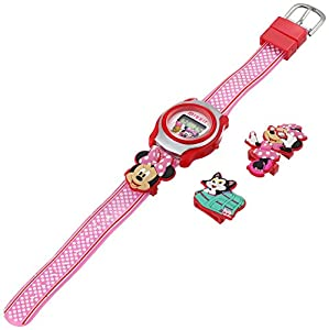 Disney Kids' MINKD545 Minnie Mouse Digital Display Quartz Pink Watch
