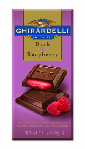 Ghirardelli Chocolate Bar, Dark & Raspberry, 3.5-Ounce Bars (Pack of 6)