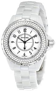 Chanel Women's H0967 J12 Diamonds White Dial Watch