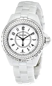 Chanel Women's H0967 J12 Diamonds White Dial Watch
