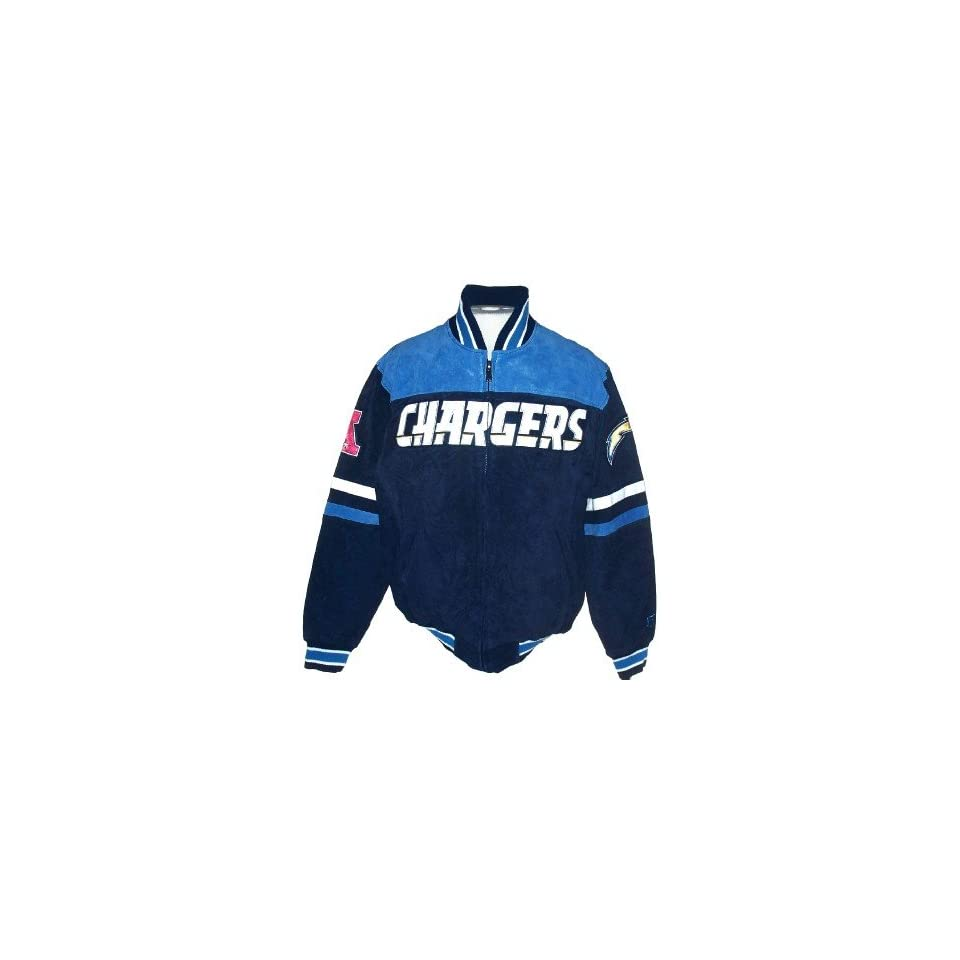 San Diego Chargers NFL Suede Leather Team Logo Jacket