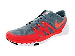 Nike Men\'s Free Trainer 3.0 V3 Bl Graphite/Ht Lv/Drng Rd/Blck Training Shoe 11 Men US