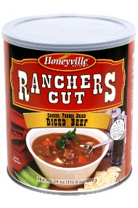 Freeze Dried Beef Dices - 1.5 Pound Can by Ranchers Cut