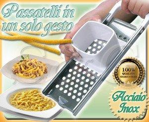Novita 39 macchina manuale utensile per passatelli pasta fresca fatta in casa inox - Pasta fatta in casa macchina ...