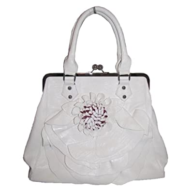 Flower Handbag (Winter White)