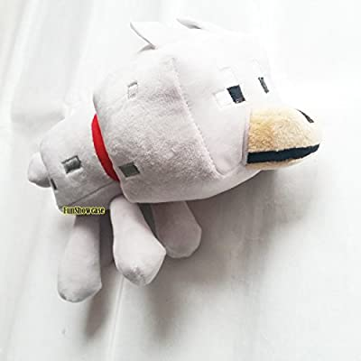 "9"" Minecraft Soft Toy Wolf Grey by FUNSHOWCASE"