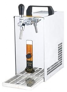 PYGMY 25/K Bierzapfanlage mit Membranpumpe, 1-leitig Trockenkühlgerät aus Edelstahl, 30 Liter/h