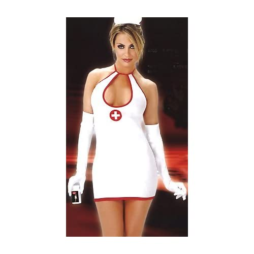 Sexy Costume: Sexy Women in Nurse Relief - Women's Sexy Nurse Costume Lingerie Outfit