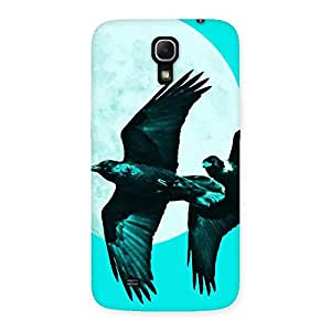 Gorgeous Raven Cyan Back Case Cover for Galaxy Mega 6.3