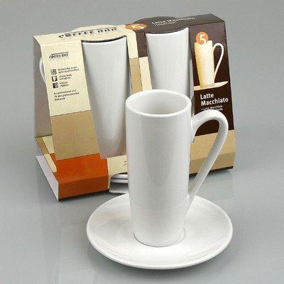 Konitz Coffee Bar Latte Macchiato Cups/Saucers, Set of 2