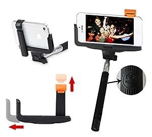 selfie stick iphone 5 5s 6 6s plus samsung s5 s6 edge plus black wireless. Black Bedroom Furniture Sets. Home Design Ideas