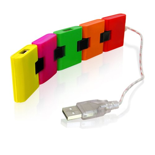 CTA Digital 4 Port USB Hub Train Style