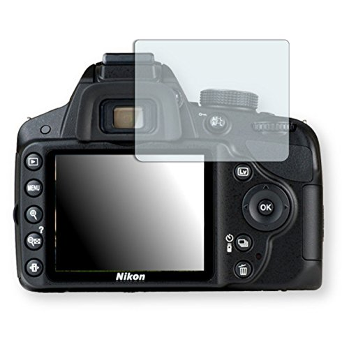 """Golebo Displayschutzfolie für Nikon D3200 Displayschutz Schutzfolie Folie """"Crystal Clear"""" - Unsichtbar MADE IN GERMANY"""