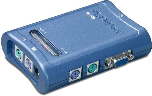 TRENDnet 2-Port PS/2 KVM Switch Kit (Includes 2x KVM Cables) TK-200K (Version B1.1R)