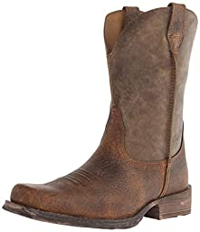Ariat Men\'s Rambler Wide Square Toe Western Cowboy Boot, Earth/Brown Bomber, 13 M US